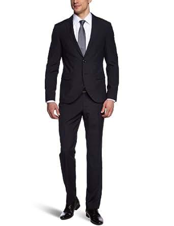 ESPRIT Collection Herren Anzugsjacke Slim Fit, gestreift 043EO2G002, Gr. 46 (S), Schwarz (001 black)