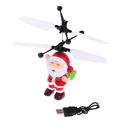 Baoblaze RC Infrarot Sensor Fliegende Weihnachtsmann Spielzeug Drohnen Helicopter mit Licht -