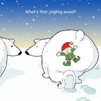 twizler Merry Christmas card con orso polare