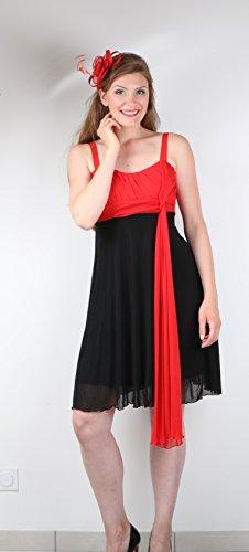ROBLORA - Abito - Monospalla - Senza maniche  - ragazza Rouge-Noir