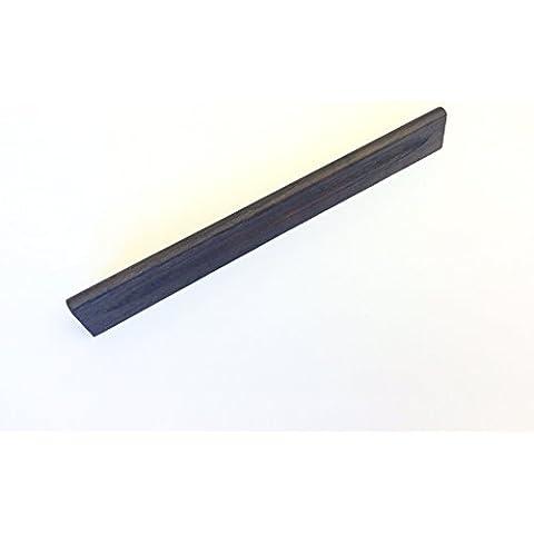 Maniglia moderna per cassetti mobili armadi cucine in legno finitura wenge e distanza tra i fori 96 e 160 mm, cod. 853