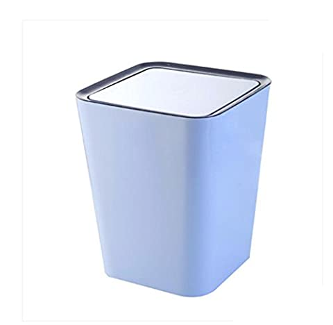 LIYONGDONG® Trash Can Plastic Llarge Poubelle Creative Household Storage Barrels Cuisine Living shake cover Trash Can Spécifications 24.5 * 24.5 * 30cm blue
