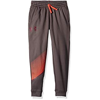 Under Armour Boys' AF 1.5 Jogger Trousers, Charcoal/Radio Red, Youth Medium