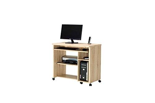 Movian Mobile Arbeitsstation, San Remo-Eiche Optik - Eiche Tastatur