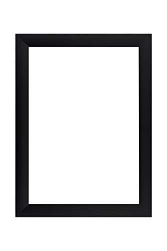 EUROLine35 mm Bilderrahmen für 35 x 120 cm Bilder, Farbe: Schwarz Matt, inkl. entspiegeltem Acrylglas und MDF Rückwand, Rahmen Breite: 35 mm, Außenmaß: 40,8 x 125,8 cm