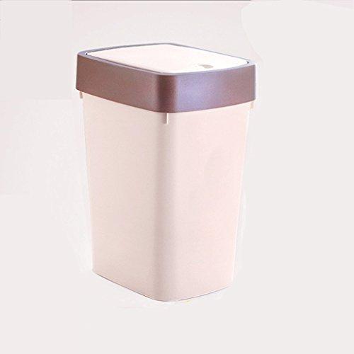 LYL Ménage Cuisine Salle de séjour Toilette Salle de bain Poubelle Taille du couvercle Nombre de barillet créatif sans pied avec un couvercle (Couleur : Gris)