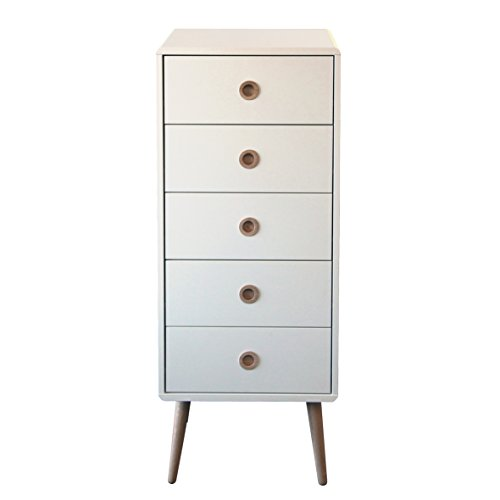 steens-group-3600050050000f-commode-a-5-tiroirs-mdf-verni-blanc-41-x-40-x-105-cm
