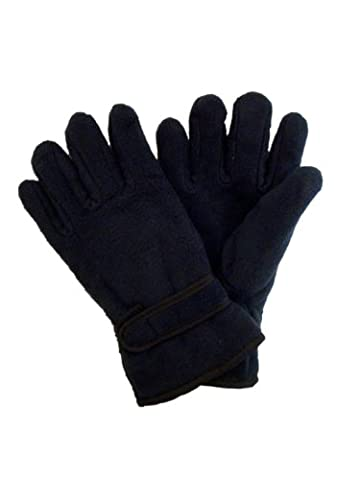 Ladies/Womans Thermal Fleece Gloves With Thinsulate Insulation. One Size (Navy)