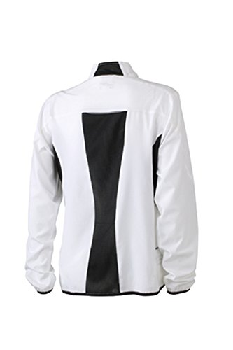 James & Nicholson Ladies' Running Jacket White/Black