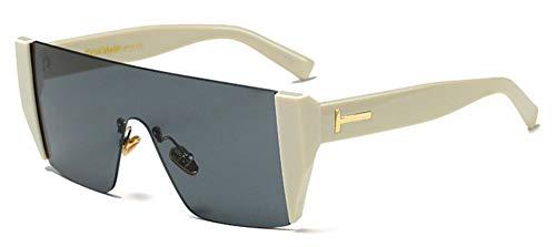 Sonnenbrille Mode Hälfte Rahmen Frauen Quadratische Sonnenbrille Designer Männer Rot Getönte Linse Brille Beige Schwarz