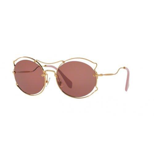 Miu Miu Damen 0MU50SS 7OE0A0 57 Sonnenbrille, Antique Gold/Violet