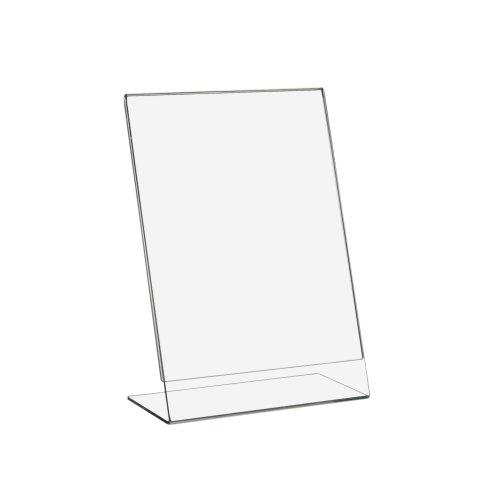 DIN A5 L-Ständer/Werbeaufsteller im Hochformat aus Acrylglas - Zeigis