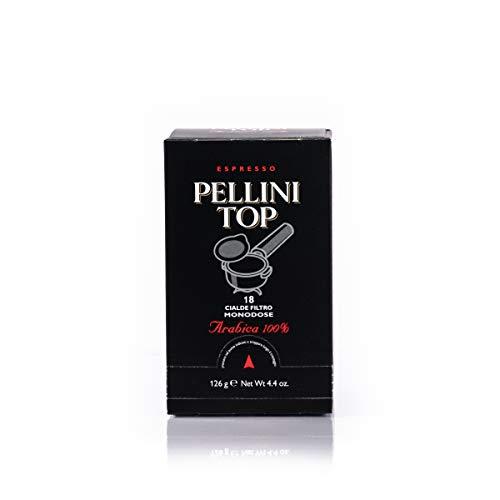 Pellini Caffè - Espresso Pellini Top Arabica 100%, 6 Confezioni da 18 Cialde Monodose (Totale 108 Cialde)