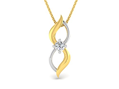 Or Jaune 9 ct Pendentifs Diamant , 0.05 Ct Diamant, GH-SI, 0.44 grammes.