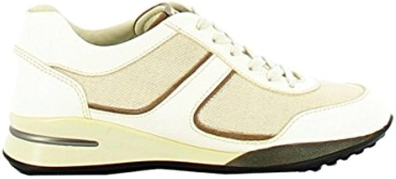 Tod's Mujer XSW0NA0D480EA5163R Beige/Blanco Cuero Zapatillas  Venta de calzado deportivo de moda en línea