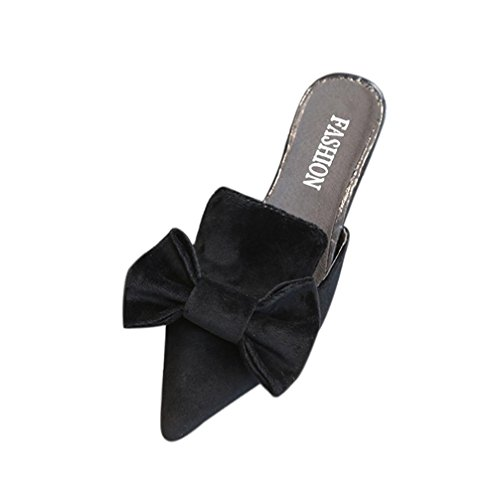 Beautyjourney pantofole donna estive elegant ciabatte donna estive da casa mare sandali estivi donna mare bassi elegant estivi gioiello - donne moda tinta colore sandali pantofola (37, nero)