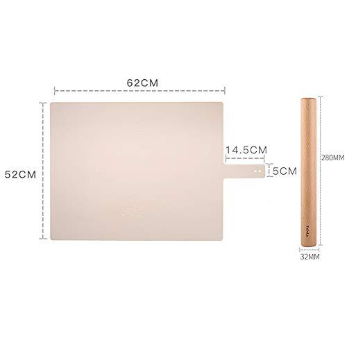 xgvvb Silikonmatte MatteLebensmittelqualität Panel Haushaltsbackenwerkzeugerosa+kleine Nudeln
