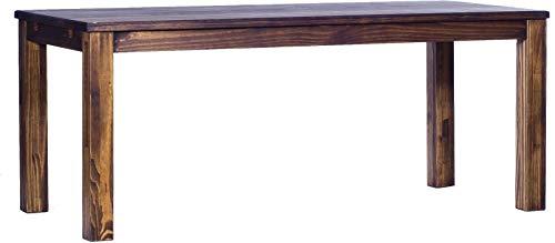 Brasilmöbel Esstisch Rio Classico 200x80 cm Eiche antik Holz Tisch Pinie Massivholz Esszimmertisch Küchentisch Echtholz Größe und Farbe wählbar ausziehbar vorgerichtet für Ansteckplatten -