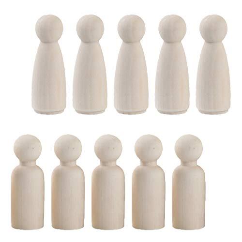 lz Peg Puppen DIY Holzfiguren Figurenkegel Spielfiguren Krippenfiguren Mann Frau Hochzeit Geburtstag Dekoration ()