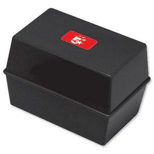 5-star-card-index-box-capacity-250-cards-6x4in-152x102mm-black