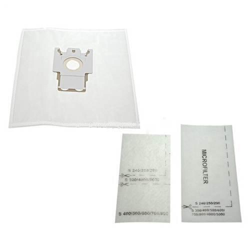 Micro Miele (10 x Miele FJM HZDQ750 &Filter, Mikrofaser, Tasche, Taschen, Auspuff Filter geeignet für S300 S250 Serie S500 Serie &S700 Serie, Katze und Hund)