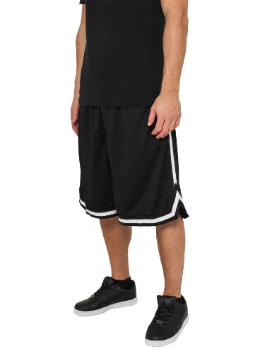 urban-classics-stripes-mesh-short-in-blkblkwht-in-grosse-3xl-original-2store-bandana-gratis