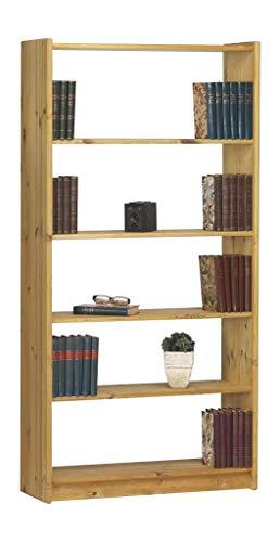 4 Regal Bücherregal Kiefer (Steens Axel Bücherregal, mit 4 Einlegeböden, höhenverstellbar, 84 x 170 x 30 cm (B/H/T), Kiefer massiv, gelaugt geölt)