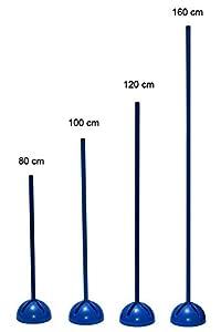 agility sport pour chiens - socle multi-fonctions remplissable avec jalon - longueur 160 cm, Ø 25 mm - couleur: bleu - 1x xs160b