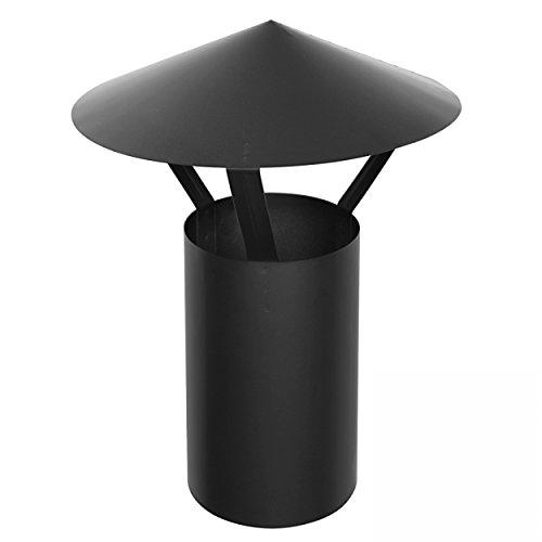 raik 130120011 Rauchrohr 120mm - Regenhaube FAL schwarz