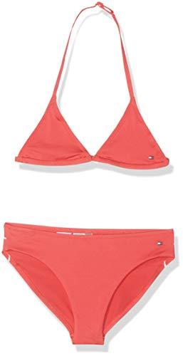 Tommy Hilfiger Mädchen Triangle Set Badebekleidungsset, Rosa (Paradise Pink 670), 152 (Herstellergröße: 10-12)