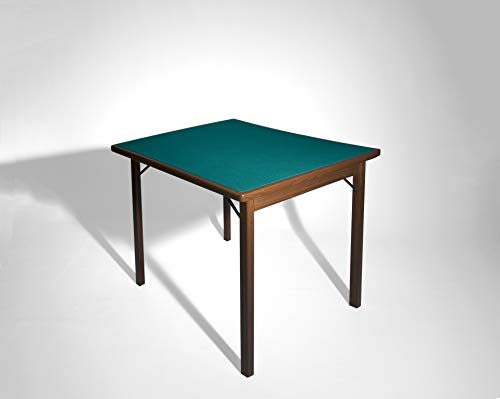 Tavoloverde 1 Tavolo da Gioco Pieghevole Noce Verniciato nessuna