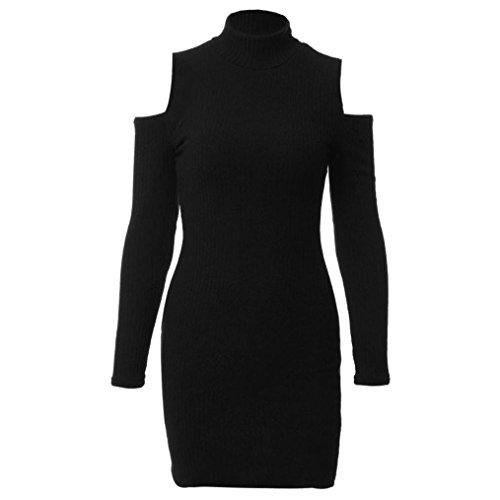 robe femme sexy, Transer ® Femmes sexy coton Bodycon Dress Slim Ladies Party Mini robe de soirée Noir