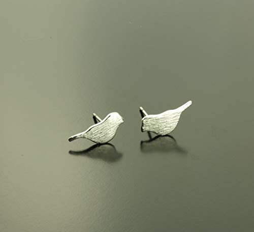 Amseln Tiere (Ohrstecker Vogel silbern Ohrringe Tier)