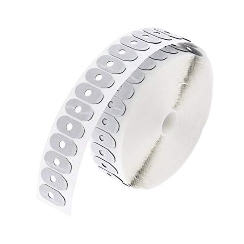 Baoblaze 1000 Stücke Brillenglas Einfassung Anti-Slip Blocking Klebeband Aufkleber - weiß, 02