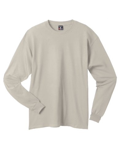 Hanes Beefy-T Langarm-T-Shirt, Erwachsene Sand