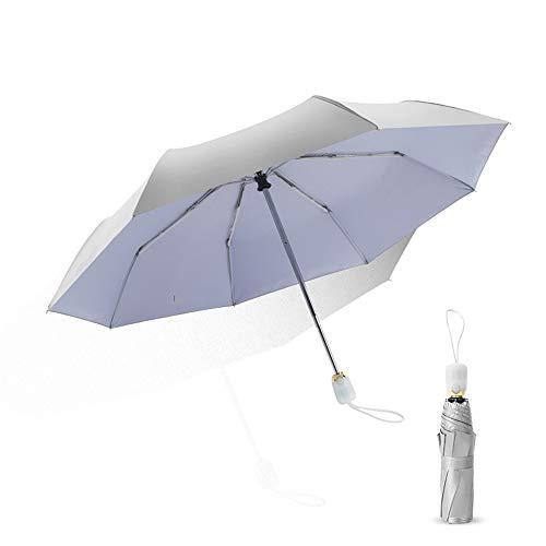 Damen Blumen Sonnenschirm Taschenschirm Regenschirm UV-Schutz Parasol Faltbar