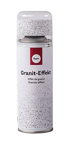 Rayher 34434102 Granit-Effekt-Spray, Sprühdose 200 ml, erzeugt einen täuschend echten Granit-Look, weiß/grau
