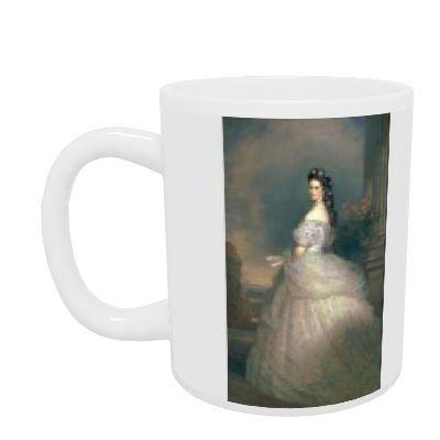 Elizabeth of Bavaria (1837-98), Empress of.. - Henkelbecher - Standardgröße - White Mug (White Empress)