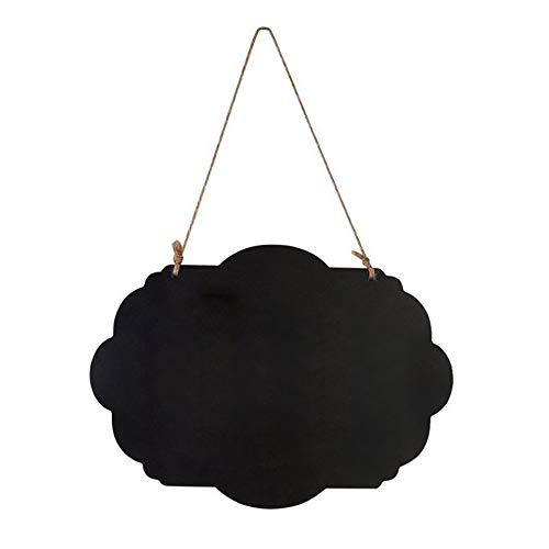 CHOULI Weihnachtshängende Tafel-hängende Tafel unterzeichnet Mitteilungs-BlackboardLace Black Lace