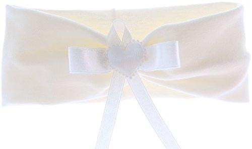 La Bortini Baby Kinder Haarband Stirnband Hairband Creme mit Schmetterling festlich Taufe