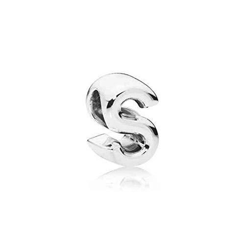 Pandora Damen Moments Buchstabe S Alphabet-Charm Sterling Silber, Cubic Zirkonia 797473