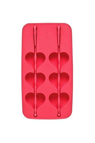 Premier Housewares Heart Shaped 6 Ice Cube Tray - Hot Pink by Premier Housewares (Heart Shaped Ice Cube Trays)