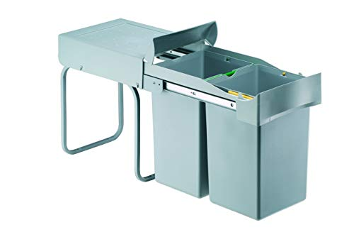 PYRAMIS 038000401 Einbau Abfallsammler 2X 14 L 2-Fach Mülltrennung