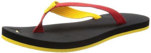 Puma Dedo II Brazil Men's Flip Flops (187268 04) (UK 10 / EU 44.5 / US 11) (Black / Ribbon Red / Team Yellow)