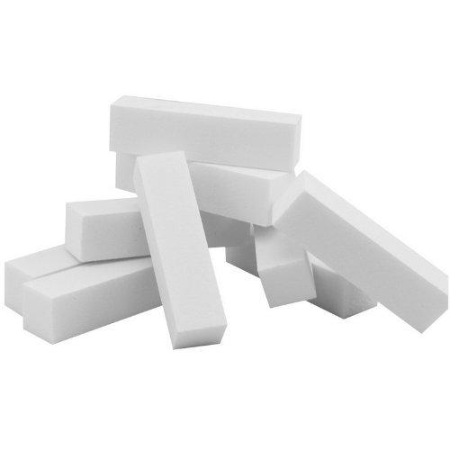 10pcs Nail Art Tampon Blanc polissage ponçage fichiers Bloquer