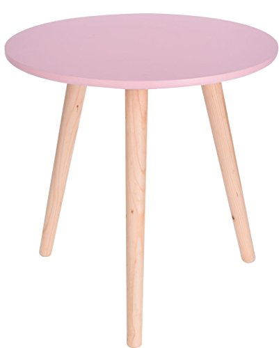 osa - 40x39 cm - Deko Tisch klein Couchtisch Sofatisch rund (Rosa Tisch)
