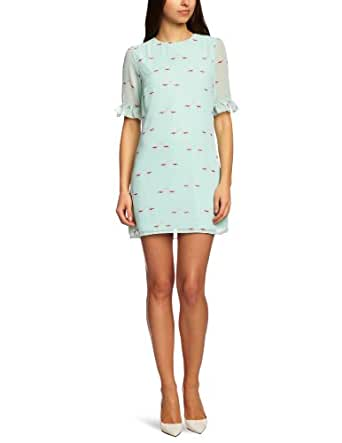 Sugarhill Boutique Flamingo Shift Shirt Women's Dress Mint X-Small