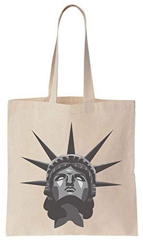Finest Prints Portrait Of The Statue Of Liberty Cotton Canvas Tote Bag -
