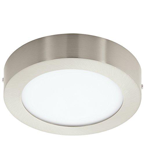 EGLO 94523 A++ to A, Deckenleuchte, Integriert, Weiß/ Nickel-matt, 17 x 17 x 4 cm (Gebürstetem Nickel Leuchten)