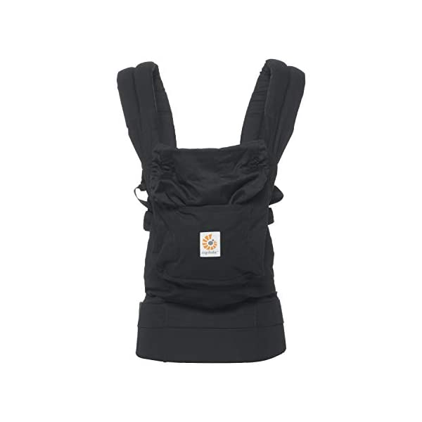 """Ergobaby Baby Carrier for Toddler Pure Black, Original 3-Position Child Carrier 5.5 to 20kg with Lumbar Support, Front Backpack Ergobaby Ergonomic babycarrier - ergonomic for baby with wide deep seat for a spread-squat, natural """"m"""" seated position. Baby carrying system with 3carry positions:  front-inward, hip and back. from baby to toddler: 5.5*-20kg Maximum wearing comfort - lumbar support waist belt (adjustable from 66-140cm / 26-52in) that can be adjusted to the height of the carry position. 8"""